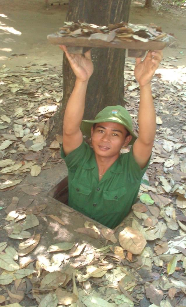 Cu Chi-tunnlarna som användes av vietnamesiska soldater under Vietnamkriget