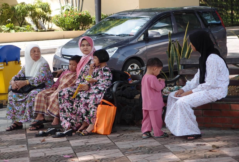 Modern muslimsk familj
