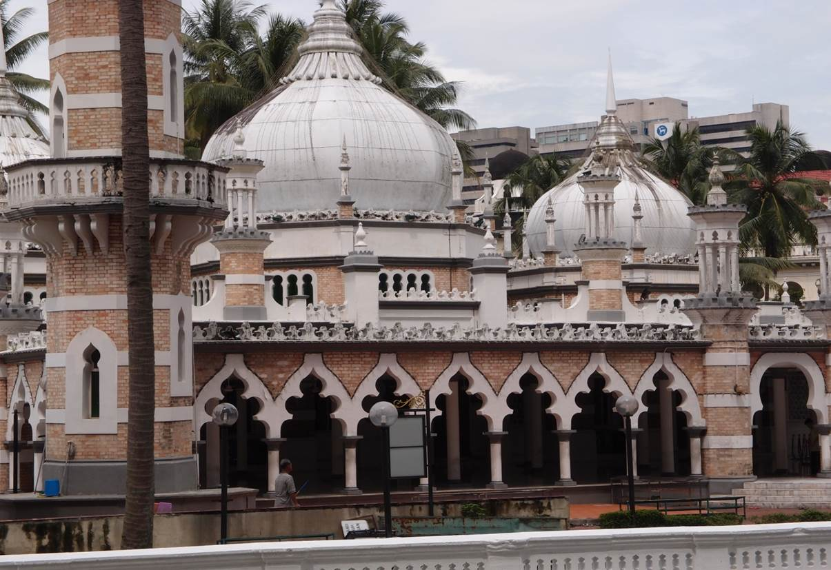Moské i centrum av Kuala Lumpur