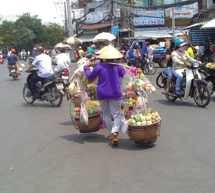 På väg till marknaden