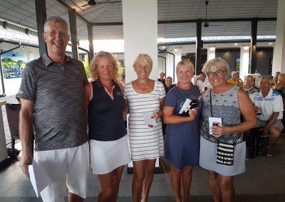 Vinnare i damernas grupp i Nordiska Mästerskapet  och Golfsektionens representant