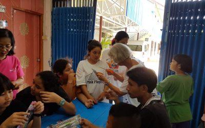 Besök på barnhemmet